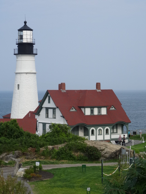 The goal, Portland Head Light at Fort Williams Park, oldest commissioned light house in America