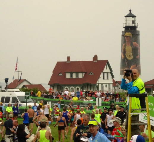 The coast of Maine greets the 6000+ finishers at Fort Williams Park at one of road running's most iconic finishes.