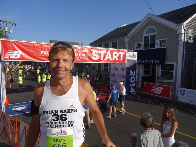 Loyal blog reader Brian Baker before 45 and chagne effort in 50-59 division