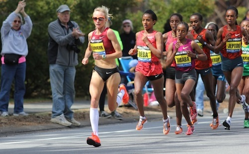 Shalane Flanagan lead the charge at Boston 2014