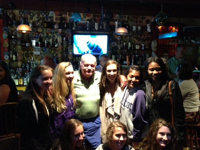 Tommy Leonard with Pittsfield, Ma. Hi School girls cross country team