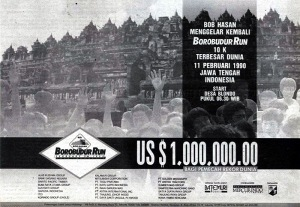 Promotional banner for 1990 Borobudur Run 10K