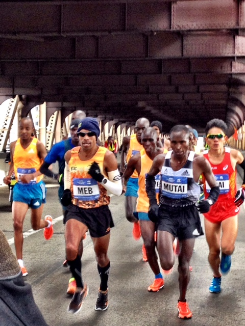 Meb & Mutai lead over Queensborough Bridge