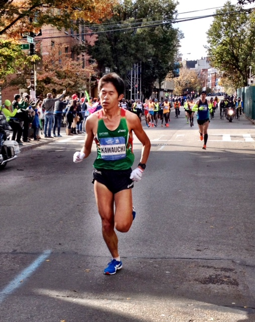11 miles t- 20K Japan's Yuki Kawauchi leads with America's Zach Hine next in line