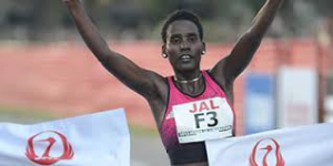 2013 champion Ehitu Kiros of Ethiopia, 2:36:02
