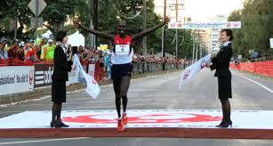Former marathon world-record holder Wilson Kipsang winning Honolulu 2012