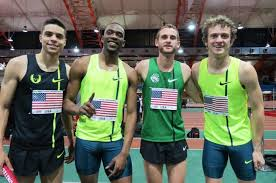 Centrowitz (1200), Berry (400), Casey (anchor 1600) & Sowinski (3rd leg 800) celebrate DMR world best in NYC