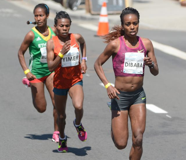 Dibaba powers away from countrywomen Yimer and Burka in mile 2