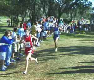 Ritz pulls away from Webb at 2000 Foot Locker XC