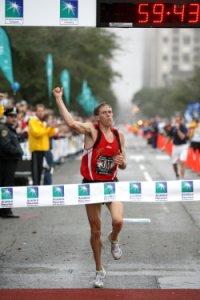 59:43 American Half Marathon record, 2007