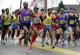 Ethiopia's Tadese Tola out fast in Boston.