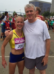 USATF Masters champion Jen Rhines with long-time manager Ray Flynn