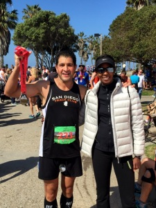 Coach T with marathon PR Mo Jabbari