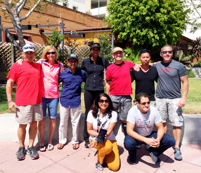 Team Toya: Mike & Jeanine; Mahesh; Coach Toya; Chris; Sy & Brian; (front row) Janaki; Mo