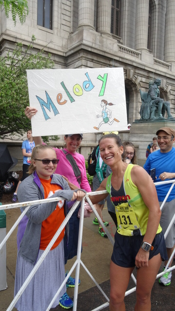 Family celebrates Melody's run in Cleveland