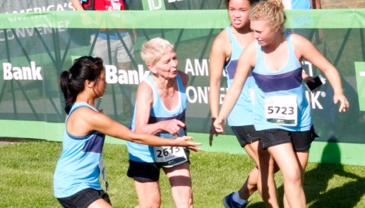 DOTTIE GRAY OF KIRKWOOD, MISSOURI WINS HER 6th JOHNNY KELLEY AWARD AS OLDEST FINISHER AT AGE 90.