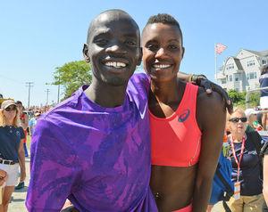 Falmouth champs 2015: Stephen Sambu, Diane Nukuri