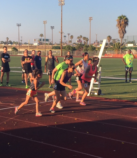 The women's mile takes off