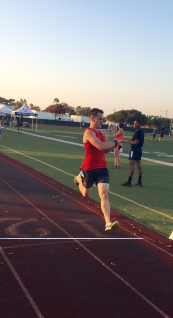 Men's mile champ Jonathan Schiefen, a Buffalo, New Yorker, now a corpsman at the Naval Medical Center in San Diego.