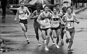 Old school: Chicago `84 lead pack at 20 miles before Steve Jones began his surge to a world record