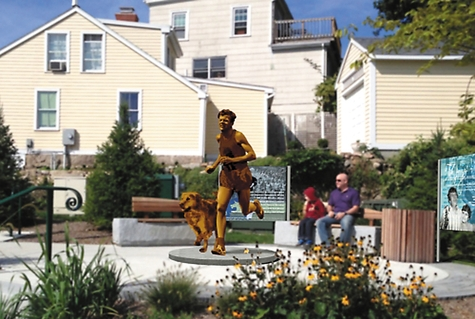 Kelley statue in Mystic