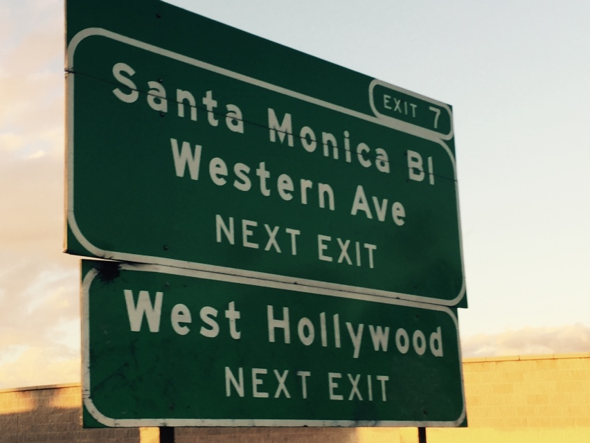 West Hollywood Santa Monica exit