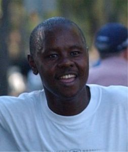 Tree-time Boston champion Cosmas Ndeti (1993--95)