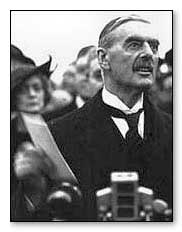 """Peace for our time."" - Neville Chamberlain"