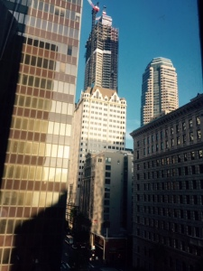 View from 7th & Hope Street, downtown L.A.