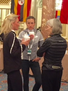 Olympians Shalane Flanagan, Amy Cragg and Joan Samuelson talking prospects in Rio where Amy & Shalane just visited.