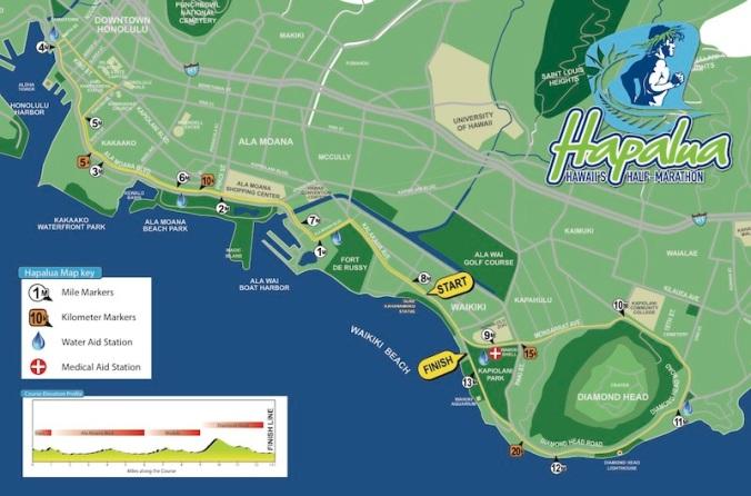 Hapalua course map