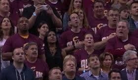 Cavs fans sing anthem