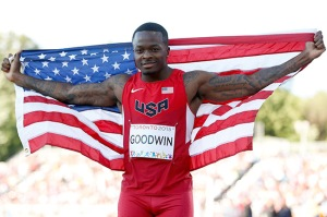 Marquise Goodwin wins silver medal in the men's long jump at 2015 Pan Am Games. (Photo by Ezra Shaw/Getty Images)