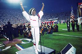 Whitney Wows at Super Bowl XXV