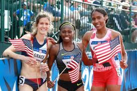 Kate Grace, Ajee Wilson and Chrishuna Williams, 2016 Olympians at 800m