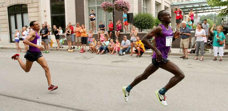 Kipruto pulls away from Tilahun for the win