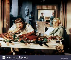PETER USTINOV, CHARLES LAUGHTON Film 'SPARTACUS' (1960) Directed By STANLEY KUBRICK 06 October 1960