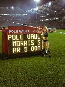 Sandi Morris goes 5 meters!