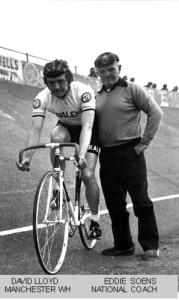 David Lloyd (Manchester Wheelers') and Eddie Soens (National Coach).