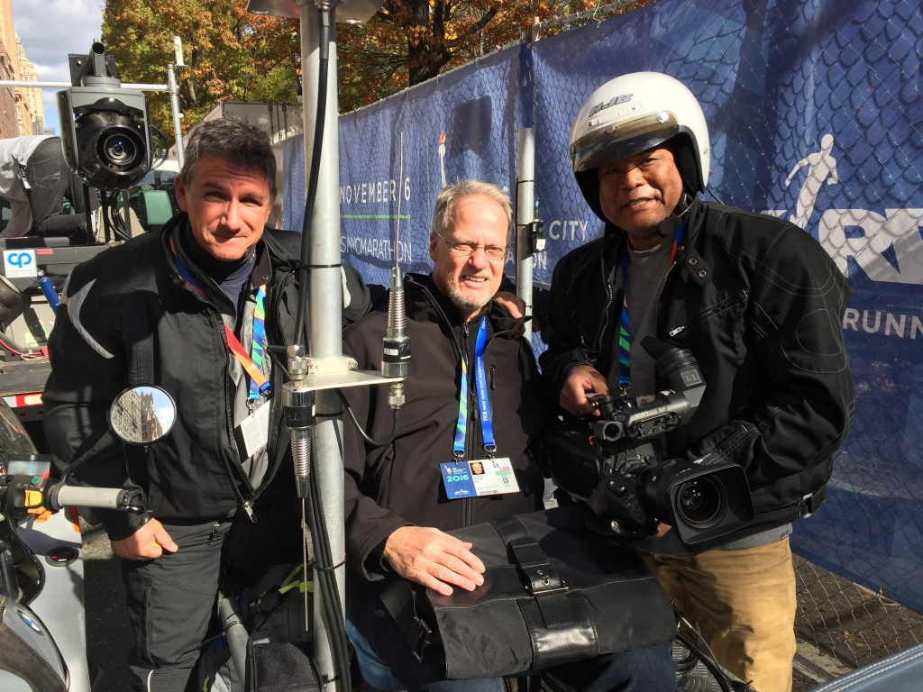 My moto partners for the day: driver par excellence Sean Ricci, and longtime friend and cameraman Dale Wong