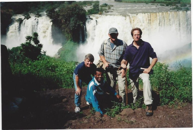 With Mike Long Rich Jayne and guide) at Tis Abay Falls in Bahir Dar, Ethiopia