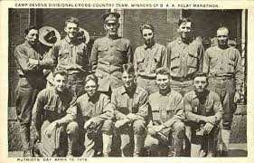 Boston Marathon 1918 Military Relay Camp Devins Team