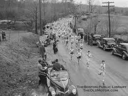 Boston Marathon old photo